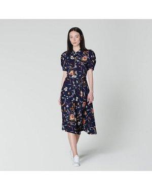 Bonham Navy Floral Print Shirt Dress, Multi