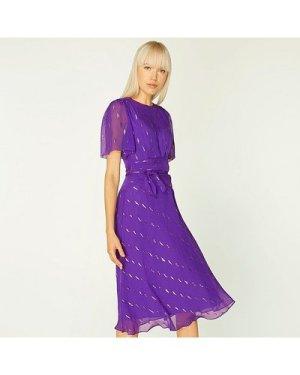 Eve Deep Purple Silk Dress, Deep Purple