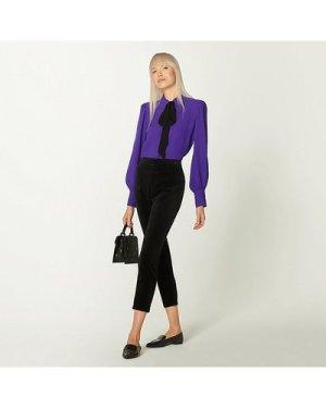 Maria Black Velvet Tuxedo Trousers, Black