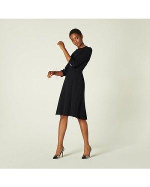 Simone Black Fit & Flare Dress, Black