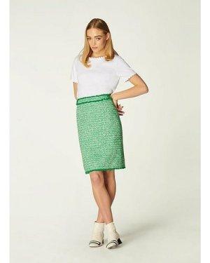 Nicola Green Tweed Mini Skirt, Green