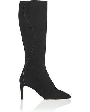 Lauran Black Suede Knee Boots, Black