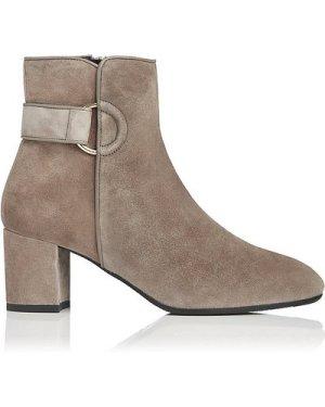 Abi Silver Birch Suede Ankle Boots, Silver Birch