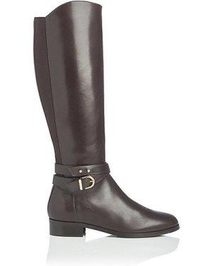 Kora Chocolate Leather Knee Boots, Chocolate