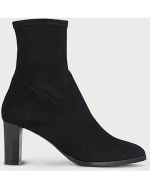 Kayla Black Suede Ankle Boots, Black