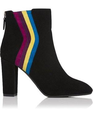 Serafina Multi Coloured Suede Ankle Boots, Multi