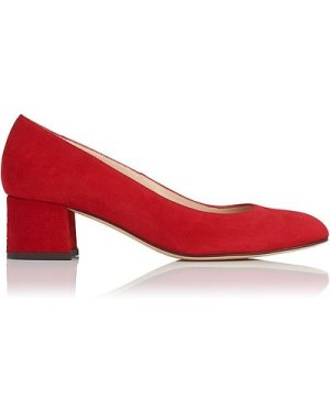 Maisy Red Suede Closed Courts, Roca Red