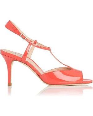Quinn Geranium Patent Sandals, Geranium