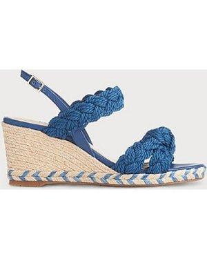 Roxie Blue Espadrille Sandals, Marine