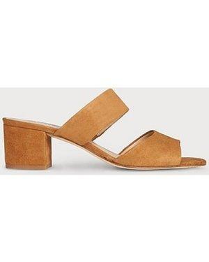 Elysia Tan Suede Sandals, Tan