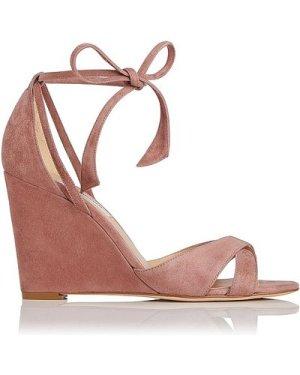 Henrietta Dark Pink Suede Sandals, Dark Pink