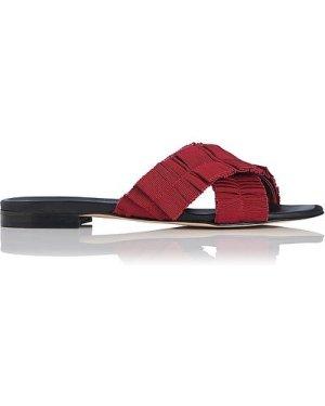 Dottie Poppy Flat Sandals, Poppy