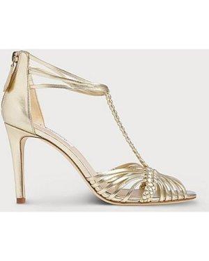 Dorothy Gold Leather Sandals, Soft Gold