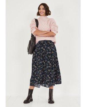 hush vintage-dot-floral Cecille Midi Skirt Vintage Dot Floral