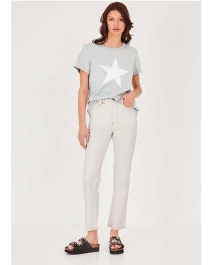 hush grey-marl-white Crackle Star Relaxed T-Shirt Grey Marl White