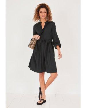 hush black Lyra Jersey Smock Dress Black