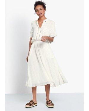 hush ecru-check Fitzrovia Shirt Dress Off White