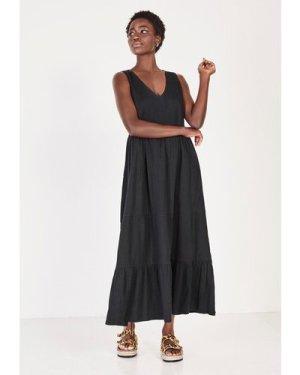 hush black Amani Midi Dress Black