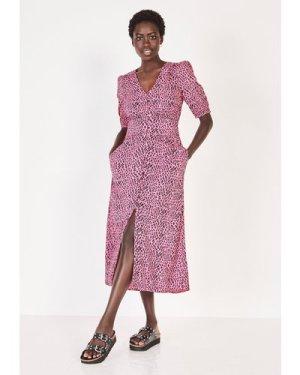 hush leopard-mark-pink Poppy Tea Dress Pink