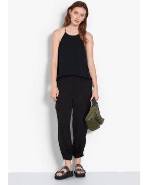 hush black Nino Cargo Trousers Black