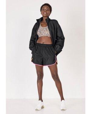 hush black Contrast Seam Running Shorts Black