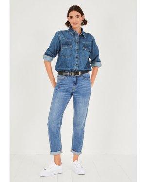 hush blue-denim Barney Denim Shirt Blue Denim