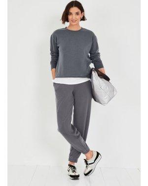 hush ebony Tianna Jersey Sweatshirt Grey