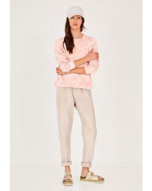 hush soft-pink Aubrey Tie Dye Sweatshirt Pink