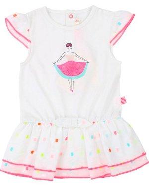Dual-material bow dress BILLIEBLUSH INFANT GIRL