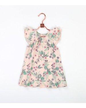 Jersey cotton dress CARREMENT BEAU NEWBORN GIRL