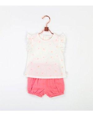 Short-sleeved T-shirt CARREMENT BEAU NEWBORN GIRL