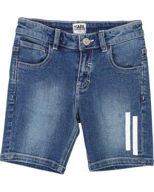 Denim bermuda shorts KARL LAGERFELD KIDS KID BOY