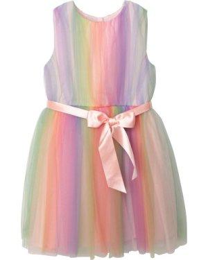 Multicoloured sleeveless dress CHARABIA KID GIRL