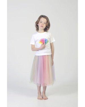 Multicoloured tulle dress CHARABIA KID GIRL