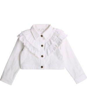 Denim jacket with ruffles CHARABIA KID GIRL
