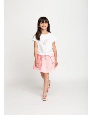 Poplin skirt with pompoms BILLIEBLUSH KID GIRL