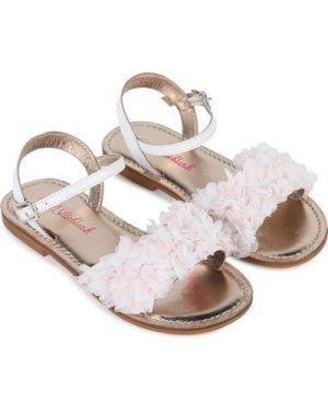 Frilly leather sandals BILLIEBLUSH KID GIRL