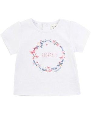Printed cotton T-shirt CARREMENT BEAU NEWBORN GIRL