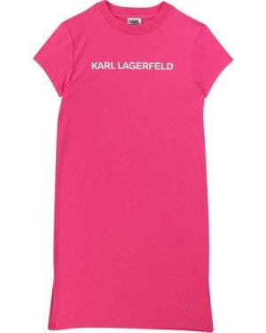 Short-sleeved T-shirt dress KARL LAGERFELD KIDS KID GIRL
