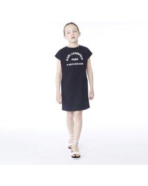 Sleeveless sweatshirt dress KARL LAGERFELD KIDS KID GIRL