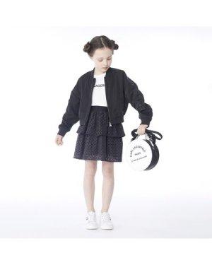 Coated bomber jacket KARL LAGERFELD KIDS KID GIRL