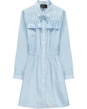 Cali Ruffled Shirt Dress