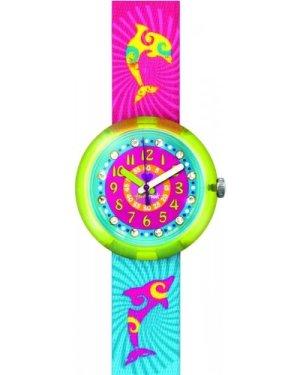 Childrens Flik Flak Yellow Splashy & Flashy Watch FPNP001
