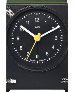 Braun Clocks BNC004 Classic Bedside Voice Activated Alarm BNC004BKBK