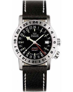 Mens Glycine Airman 18 GMT Automatic Watch 3866.19-LB9