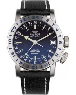 Mens Glycine Airman 17 Purist Automatic Watch 3917.18/66-LB9B