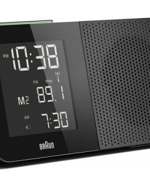 Braun Clocks Digital Radio Alarm Clock Radio Controlled BNC010BK-SRC