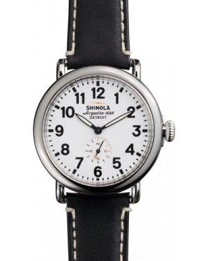 Shinola Runwell 41mm Black Leather Strap Watch S0110000019