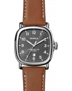 Shinola Guardian 3 hand 41mm Tan Leather Strap Watch S0120029583