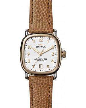 Shinola Guardian 3 hand 36mm Dark Camel Leather Strap Watch S0120029580
